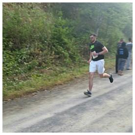 Javin, starting his second run.